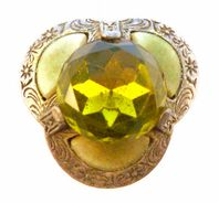 Vintage Scottish Style Trefoil Brooch By Miracle.
